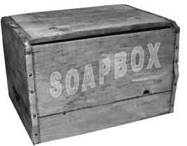 a soapbox