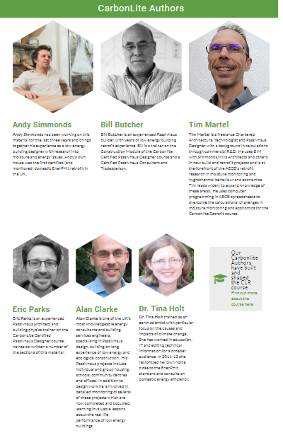 Screenshot of the page about the Carbonlite course authors. Click to find out more